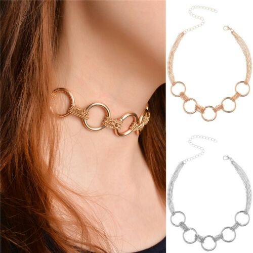 Gold Circle Chain Choker Necklace Mango Bloggers Stories Aw18