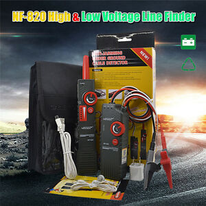 KOLSOL NF-820 High /& Low Voltage Wire Tracker RJ45 RJ11 BNC Cable Tester Underground Cable Finder Anti-Interference Wire Tracker
