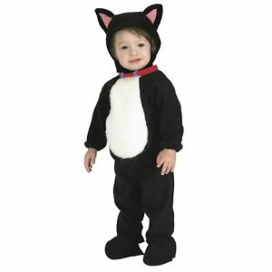 81f430a8a325 Unisex Baby Infant Newborn Black Kitty Cat Animal Costume Jumpsuit ...