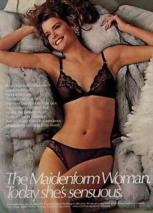 4d0171bf0b Image is loading 1985-MAIDENFORM-Sweet-Nothings-Bra-amp-Panty-Magazine-