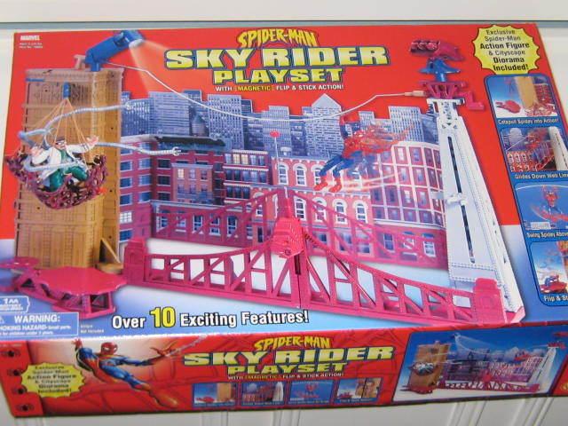 2002 SPIDER-MAN SERIES - SPIDER-MAN SKY RIDER PLAYSET