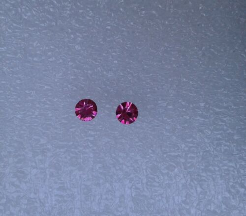 Cristal pendientes en rosa 5mm