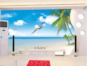 3D Strandseevögel 683 Tapete Tapeten Mauer Foto Familie Tapete Wandgemälde DE