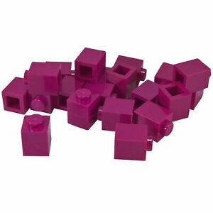 Lego Magenta brique 1x1 20 Pièces Nouveau!!!