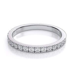 18Carat-White-Gold-Diamond-Half-Eternity-Wedding-Band-0-52carats-GSI-2-3MM-Wide