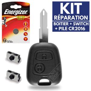 Coque-Reparation-Cle-Telecommande-pour-Plip-PEUGEOT-206-106-306-Pile-Switch
