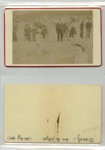 France, Biarritz Sur la plage CDV vintage albumen carte de visite, Tirage alb | eBay