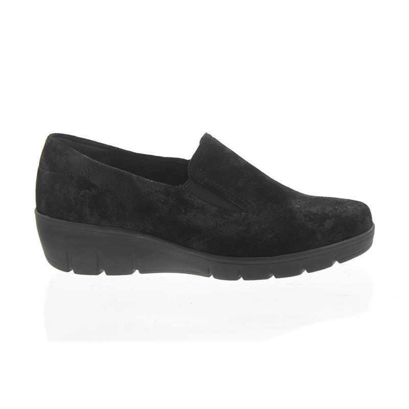 Semler Judith, zapatillas, zapatillas, zapatillas, metal-terciopelo, negro, ancho h j7025-031-001  hasta un 70% de descuento
