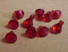 10 Lego Kristalle Rock 1 x 1 Steine Diamanten Rock Raiders Zubehör rot Neu
