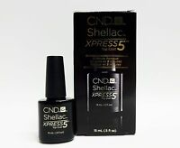 Cnd Shellac Gel Polish Xpress 5 Top Coat 5 Minute Removal .5oz/15ml Large