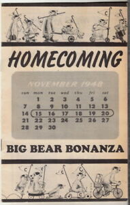 rare-original-1948-Homecoming-Big-Bear-Bonanza-program-Cal-Berkeley