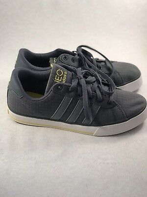 945 Divertente poeti  Adidas Neo Label Ortholite Insole Grey Yellow Stripe Tennis Shoe Size 8 |  eBay