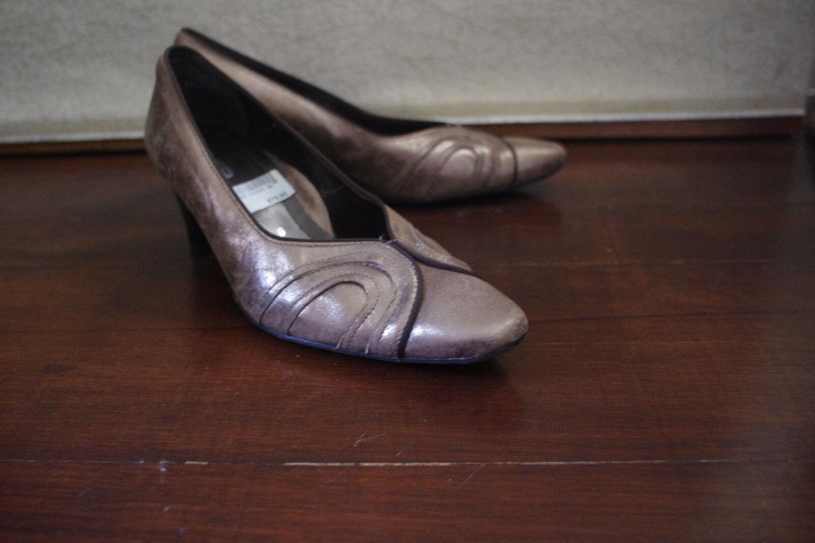 Ara Germany Braun Gold Leder Größe:5 Nubuck Damens Pump Schuhes Größe:5 Leder USA37,5 Heels 2,5