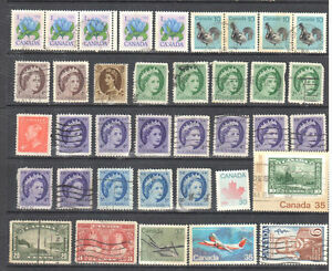 Canada Used Set of 35 Stamps