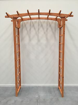 Timber Garden Arch Curved Top Trellis Trainer Sides $119