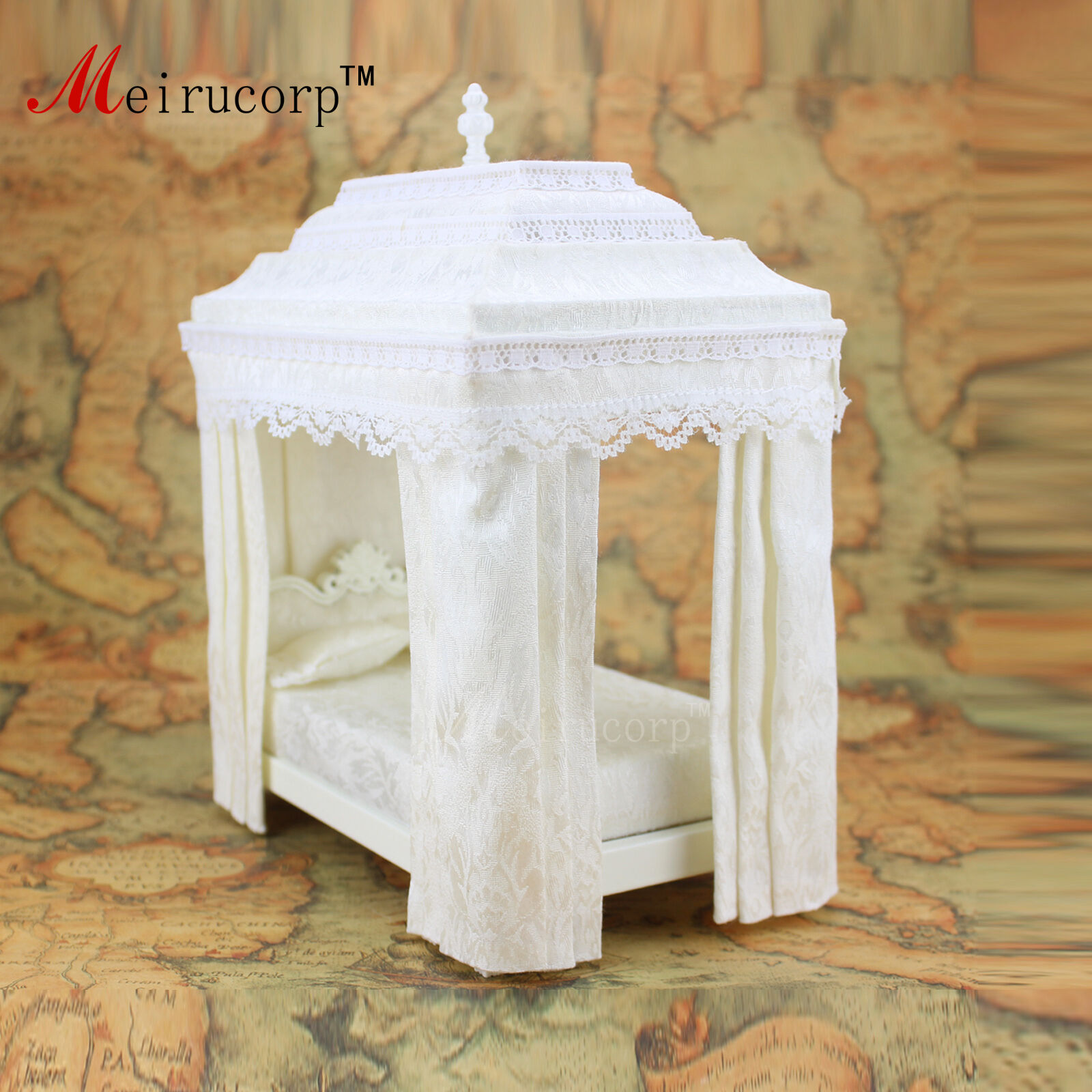 1 12 scale Dollhouse miniature furniture Retro European Palace bedroom bed 10339