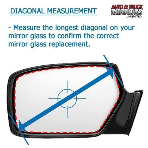 Mirror Glass Replacement Full Adhesive For 11-13 Transit Connect Driver Side