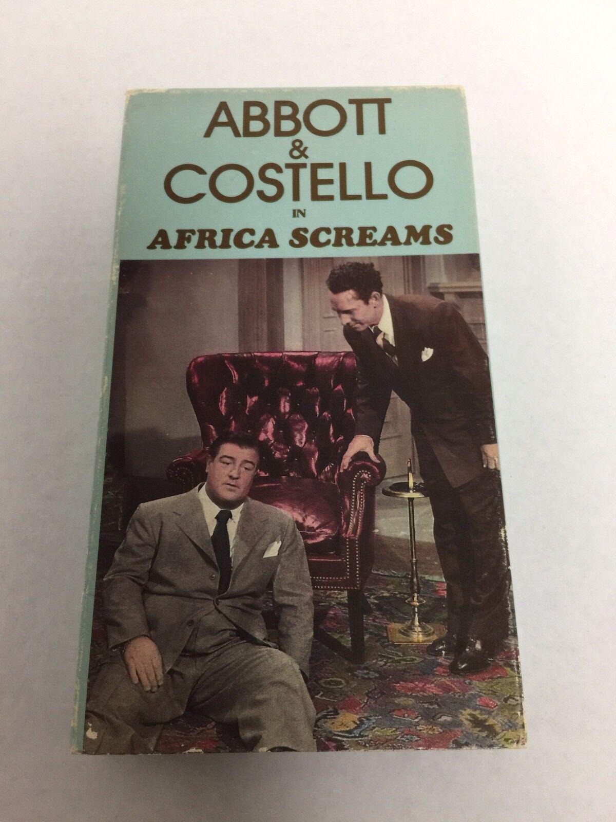 Abbott & Costello: Africa Screams VHS