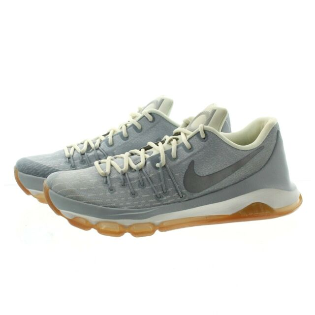 20ca9526fadd Nike KD 8 VIII Grey Silver White Basketball Shoes Kevin Durant Mens US 9  for sale online
