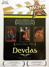 DEVDAS BOLLYWOOD DVD - SHAH RUKH KHAN - FREE POST