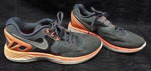 f28c250f336 Nike Lunareclipse 4 Running Men s Shoes Size 9.5 Gray Orange 629682 ...