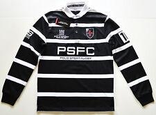 NWT Men's Ralph Lauren Long-Sleeve Rugby Polo Shirt, Black, White, M, Medium
