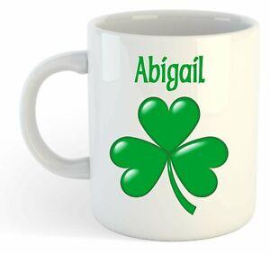 Abigail - Trèfle Nom Personnalisé Tasse - Irlandais St Patrick Cadeau Ains3du8-08005401-432039863