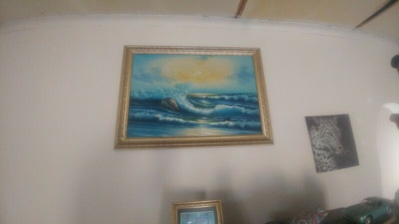 Seascape Oil Painting of by Tona