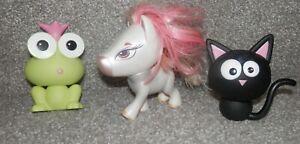 Bratz-Black-Cat-Figure-amp-white-pony-Baby-Petz-Jade-039-s-Kool-Kat-green-frog-lot-3
