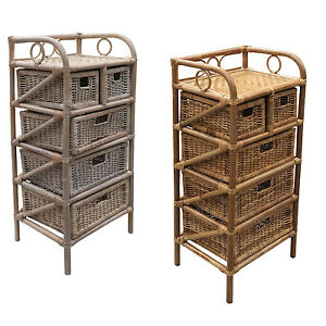 rattanregal kommode korbregal w scheregal regal korb korbm bel rattanm bel ebay. Black Bedroom Furniture Sets. Home Design Ideas