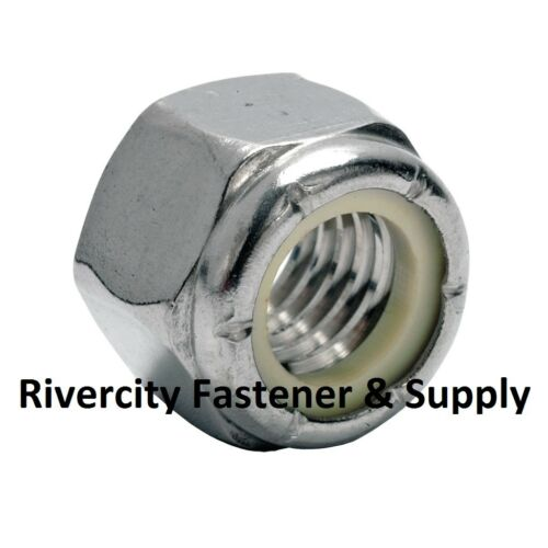 Stop Nut Zinc Plated 8.8 M3-0.5 OR M3 Coarse Thread Nylon Insert Lock 5000