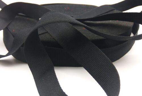 32mm Nastro di tela di policotone Cinturino BAG BLACK fettuccia 1mtr 5mtr-ASIS