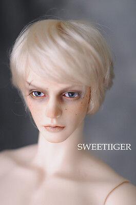 """8-9/"""" 1//3 BJD Hair IP SD doll wig Super Dollfie The  Blonde bob M-mohair"""
