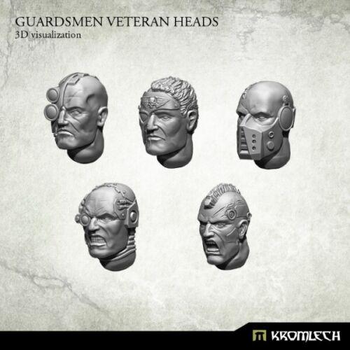 Kromlech Guardsmen Veteran Heads Brand New KRCB165