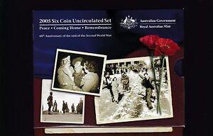 2005-UNC-Coin-SET-Australia-uncirculated