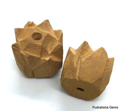 BUDDHA 28 mm wooden Hand carved Guru Bead for Mala Beautiful Big Collector Rare