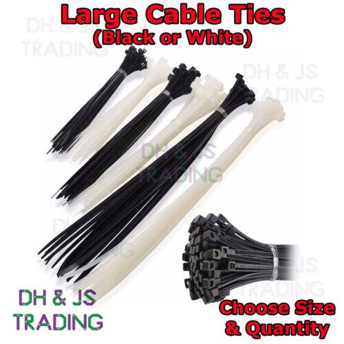 Large Cable Ties Nylon Plastic Cable Tie Zip Tie Tie Wrap Long Wide Black White