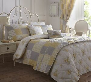 Patsy-Patchwork-Quilt-Duvet-Cover-Pillowcase-Bedding-Set-Flowers-Floral-Country