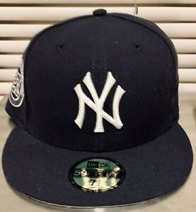New York Yankees Navy White 1996 World Series Patch New Era 59Fifty Fitted Hat
