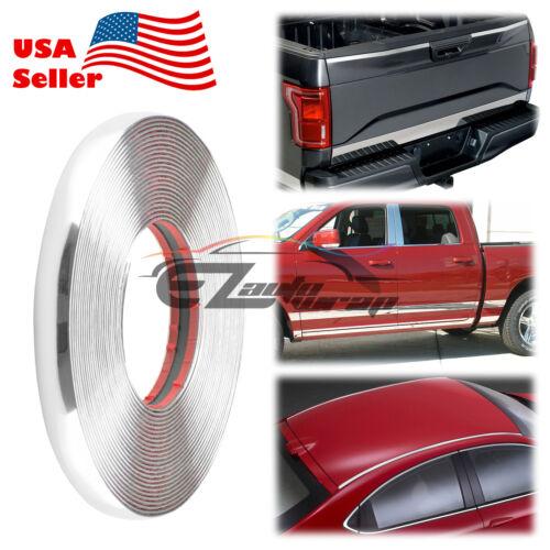 25mm Chrome Car Truck Decorative Edge Tape Molding Moulding Trim Strip Protector