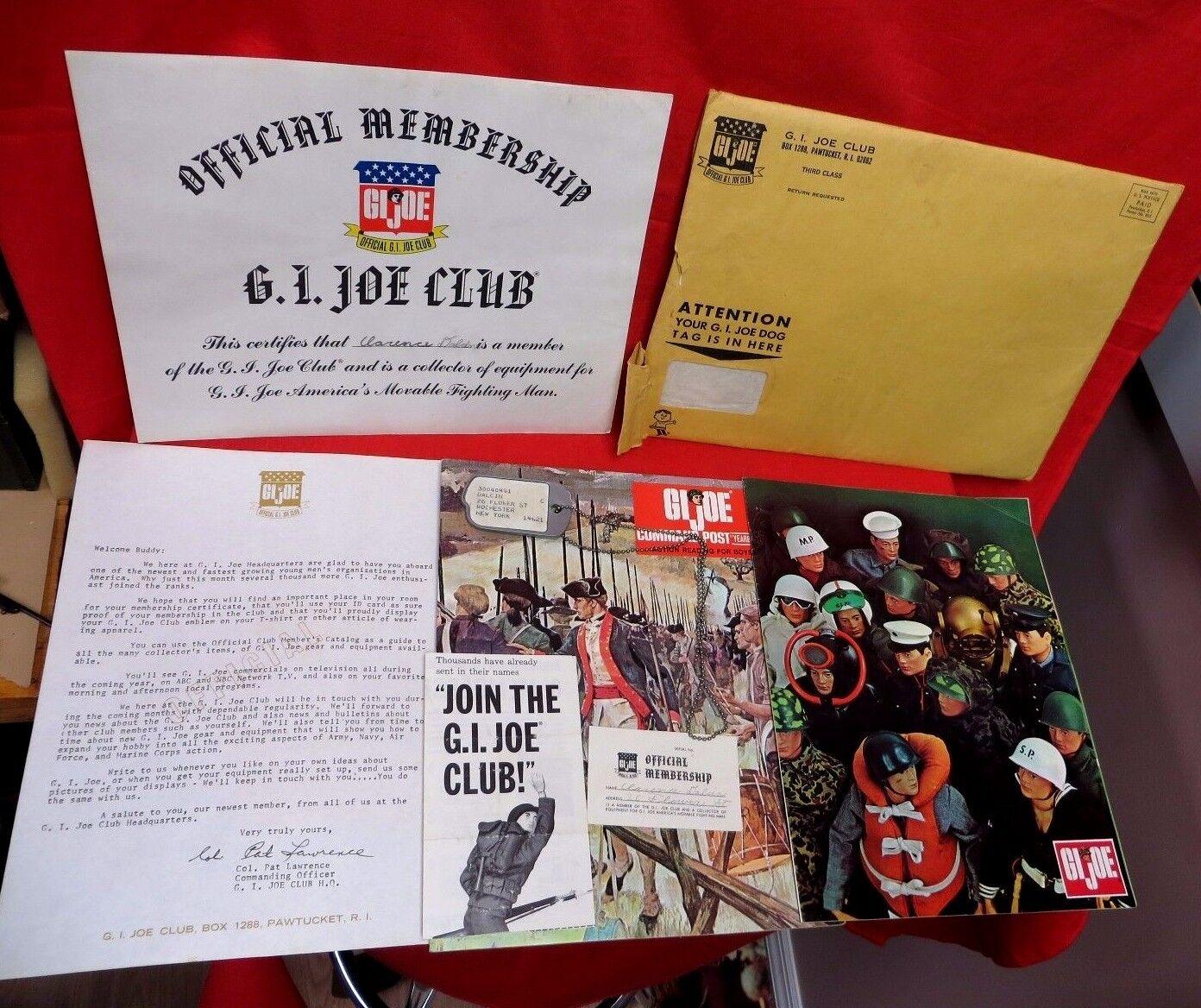 1964 vintage - gi joe joezeta  1966 hasbro farbe katalog   club - kit   willkommen