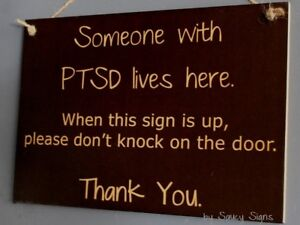 PTSD-Sign-Post-Traumatic-Stress-Disorder-Symptoms-Signs-No-Soliciting-Welcome