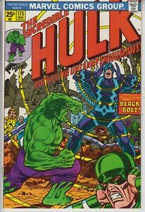 INCREDIBLE-HULK-175-NM-VS-THE-INHUMANS-HERB-TRIMPE-ART-CENTS-1974