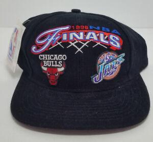 e33df803e89 NBA Finals 1998 Basketball Chicago Bulls Utah Jazz Snapback Hat Logo ...