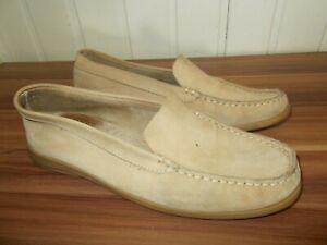 Chaussures-plates-bateau-slip-on-AIGLE-40-a-enfiler-daim-beige-logo