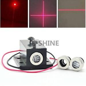 Laser-Dioden-Modul-Punkt-30mw-650nm-roter-Linie-Kreuz-12mm-Kuehlkoerper
