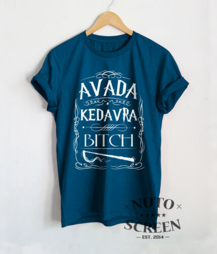 Avada Kedavra Bitch T-Shirt Voldemort Shirts Unisex Magic Design Gift Tees