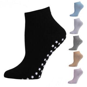 Women Solid Color Anti Slip No Skid Sports Yoga Athletic Grip Socks Summer Sock