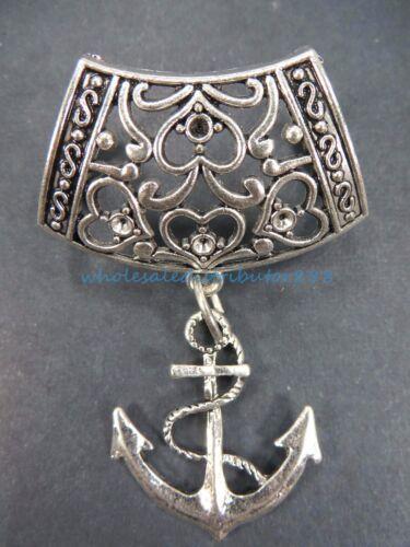 scarf charm nautical anchor pendant slider bail