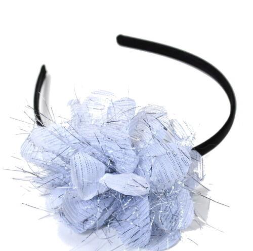 Fascinator Haarreife Paris Blumen Haarreifen Stoff Kopfschmuck Satin